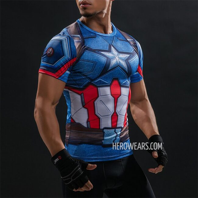 Captain America Compression Shirt Rashguard