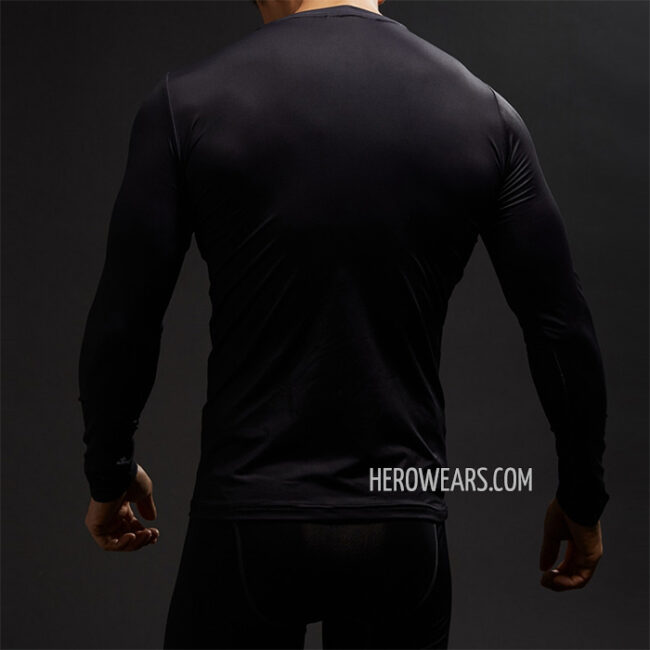 Superman Black Compression Shirt Rashguard