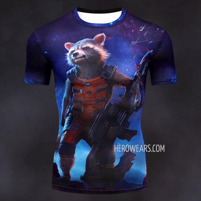 Rocket Raccoon Compression Shirt Rashguard