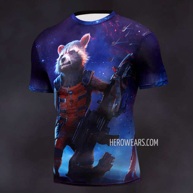 Rocket Raccoon Compression Shirt Rashguard