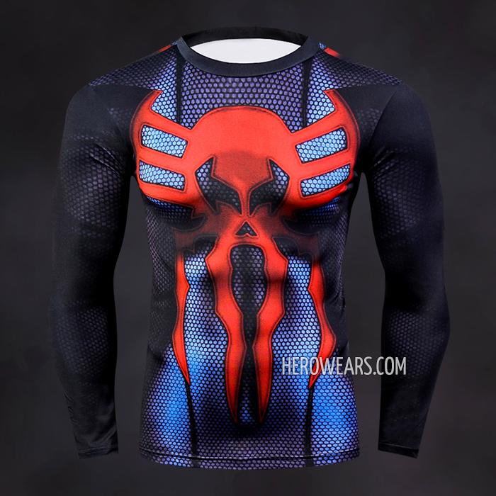 972ff2d8 Spider Man 2099 Compression Shirt Long Sleeve Rashguard
