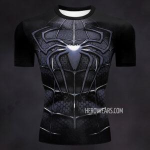Spider Man Black Compression Shirt Rashguard