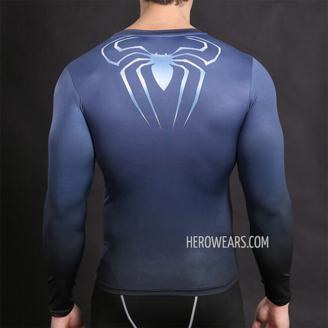 Spider Man Blue Compression Shirt Rashguard