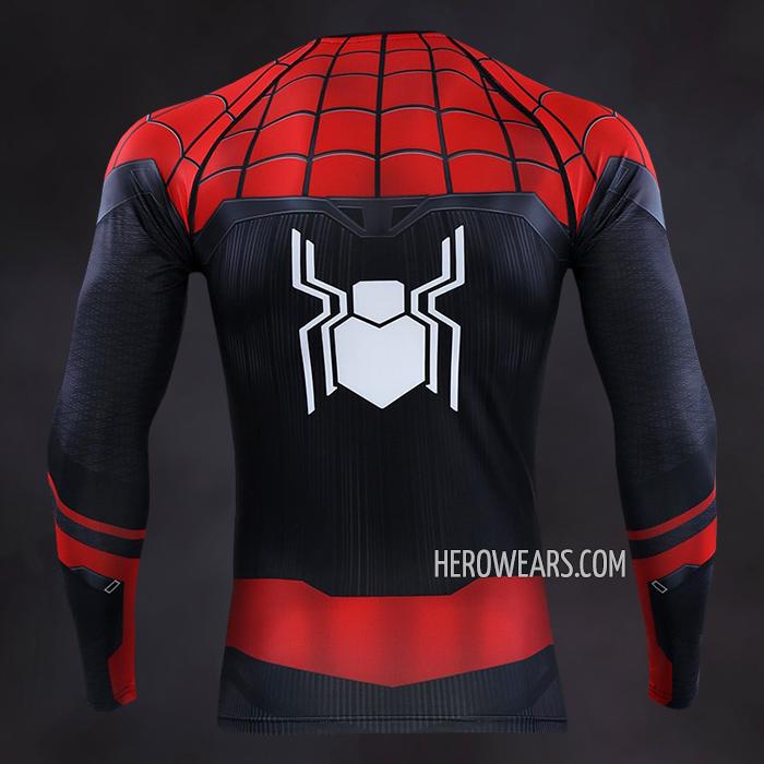 e6129066 Spider Man Far From Home Compression Shirt Long Sleeve Rashguard