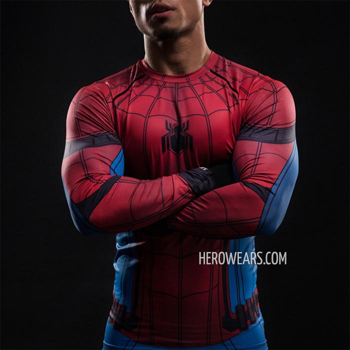 f7990e57 Spider Man Homecoming Compression Shirt Rashguard Spider Man Homecoming Compression  Shirt Rashguard ...