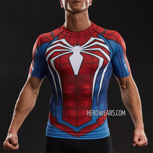 Spider Man PS4 Insomniac Compression Shirt Rashguard