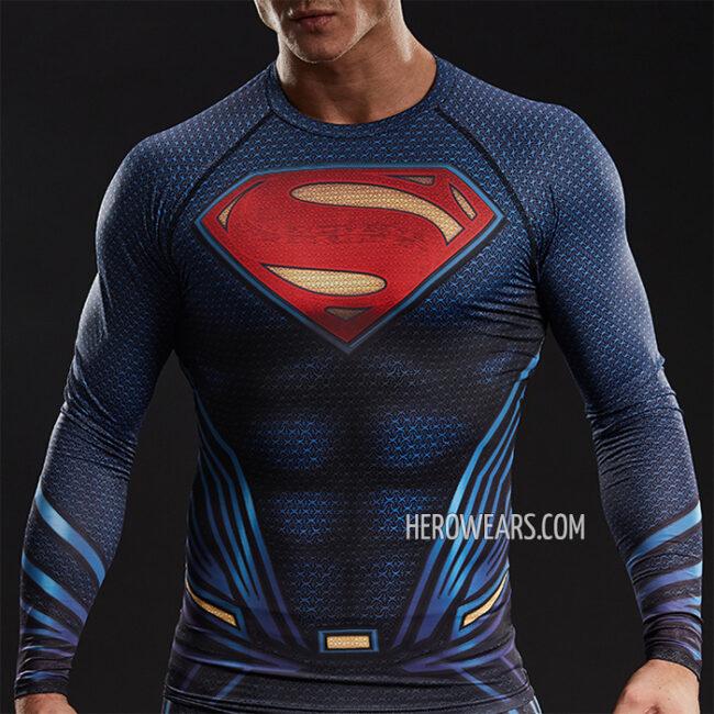 Superman Compression Shirt Rashguard
