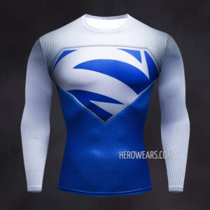Superman Electric Blue Compression Shirt Rash Guard