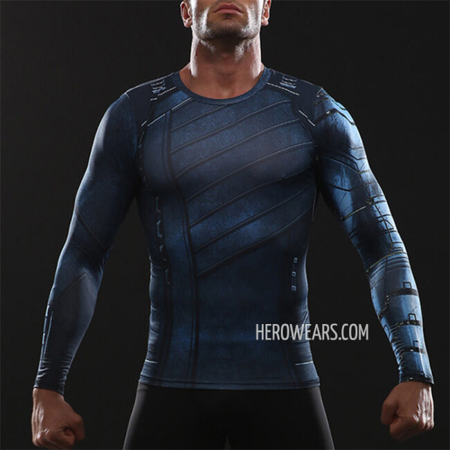 Winter Soldier White Wolf Compression Shirt Rashguard