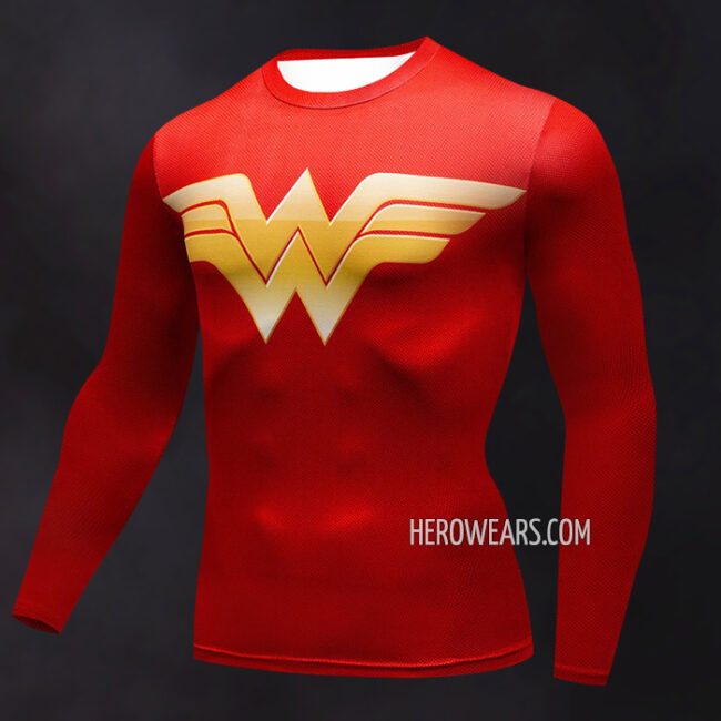 Wonder Woman Compression Shirt Rash Guard