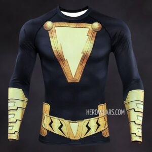 Black Adam Compression Shirt Rashguard