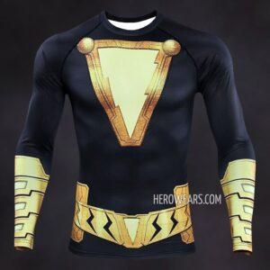 Black Adam Compression Shirt Rashguard