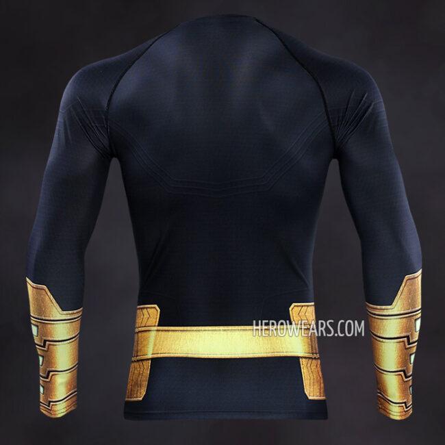 Black Adam Compression Shirt Rash Guard