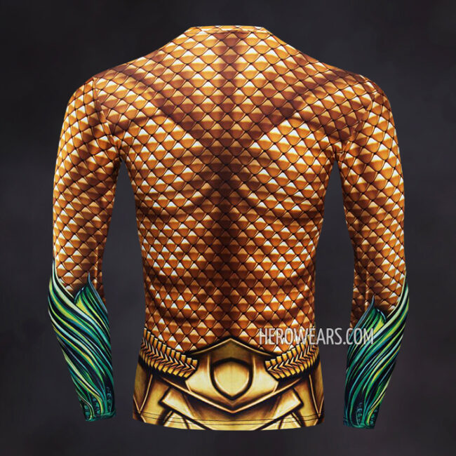 Aquaman Compression Shirt Rash Guard