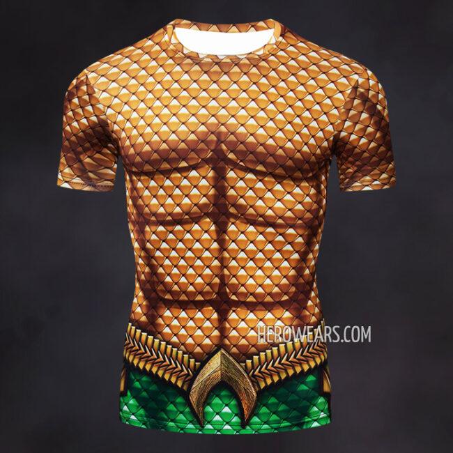 Aquaman Compression Shirt Rash Guard