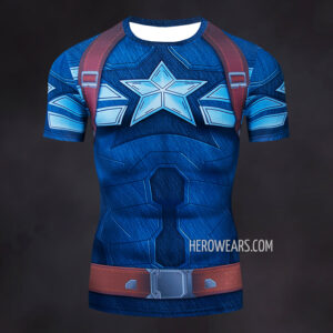 Captain America Strike Compression Shirt Rashguard