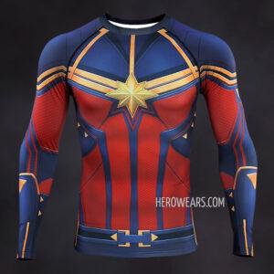 Captain Marvel Endgame Compression Shirt
