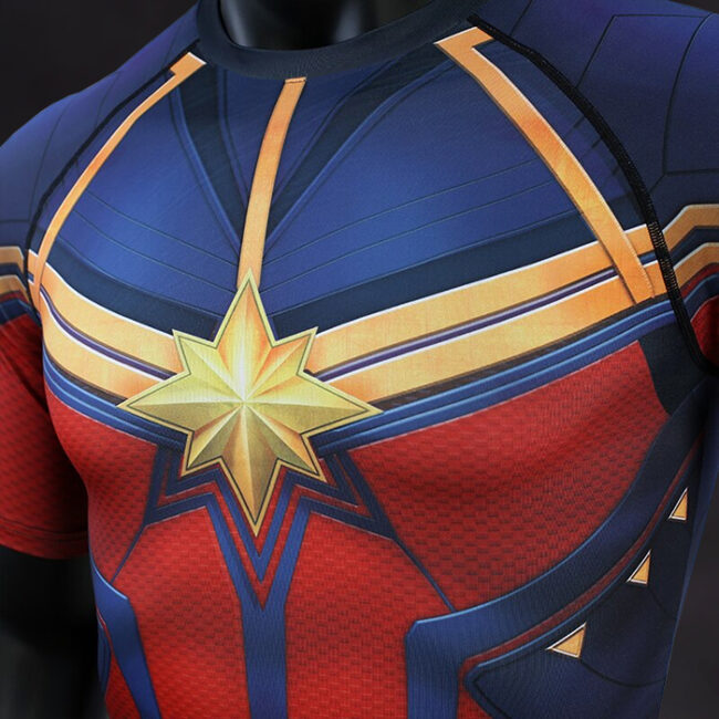 Captain Marvel Endgame Compression Shirt