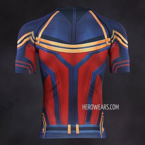 Captain Marvel Compression Shirt Rash Guard