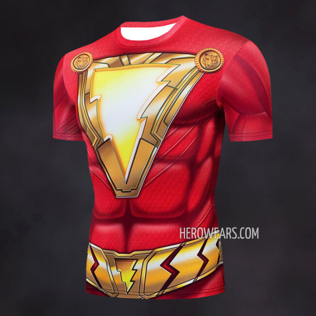 Shazam Compression Shirt Rash Guard