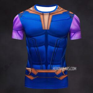 Thanos Compression Shirt Short Sleeve Rashguard