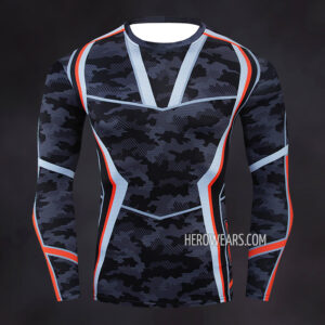 Tony Stark Camo Compression Shirt Rashguard