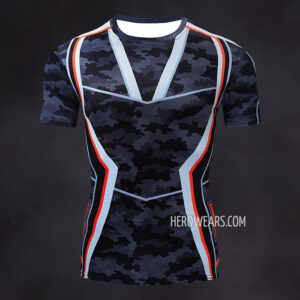 Tony Stark Camo Compression Shirt Rashguard