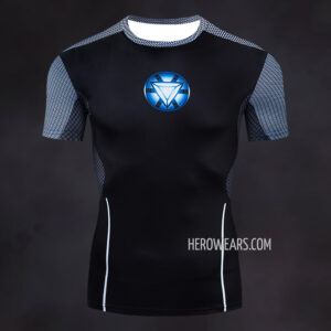 Tony Stark Compression Shirt Rash Guard