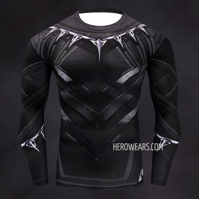 Black Panther Compression Shirt Rashguard