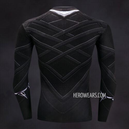 Black Panther Compression Shirt Rash Guard