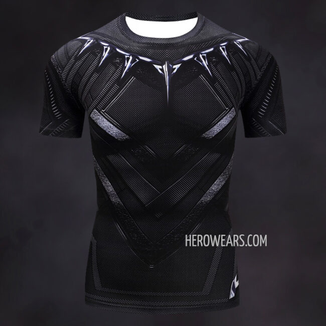 Black Panther Compression Shirt Rash Guard
