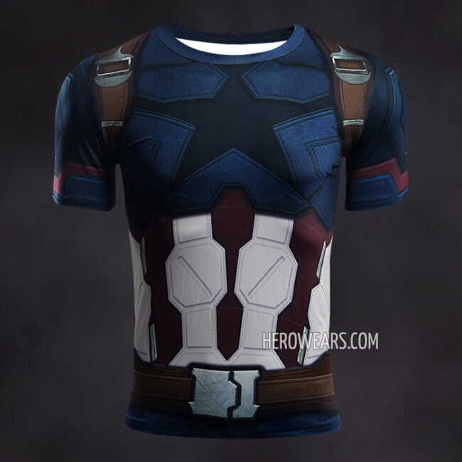 Captain America Infinity War Compression Shirt Rashguard