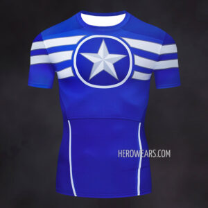 Captain America Super Soldier Compression Shirt Rashguard