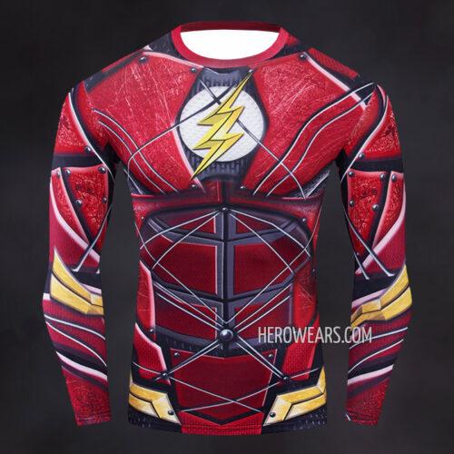 Flash Justice League Compression Shirt Rash Guard
