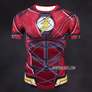 Flash Justice League Compression Shirt Rash Guard