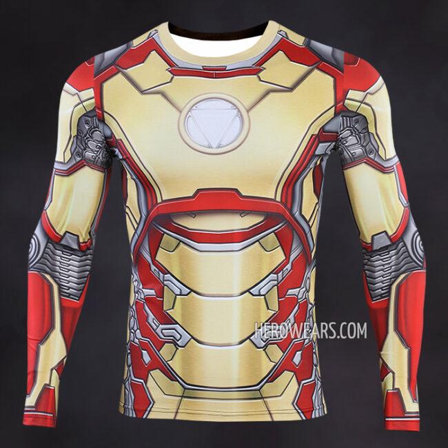 Iron Man Mk42 Compression Shirt Rashguard