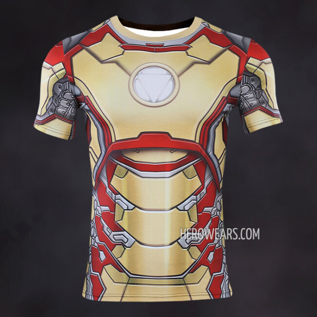 Iron Man Mk42 Compression Shirt Rashguard