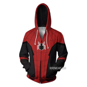 Spiderman Far From Home Zip Up Hoodie