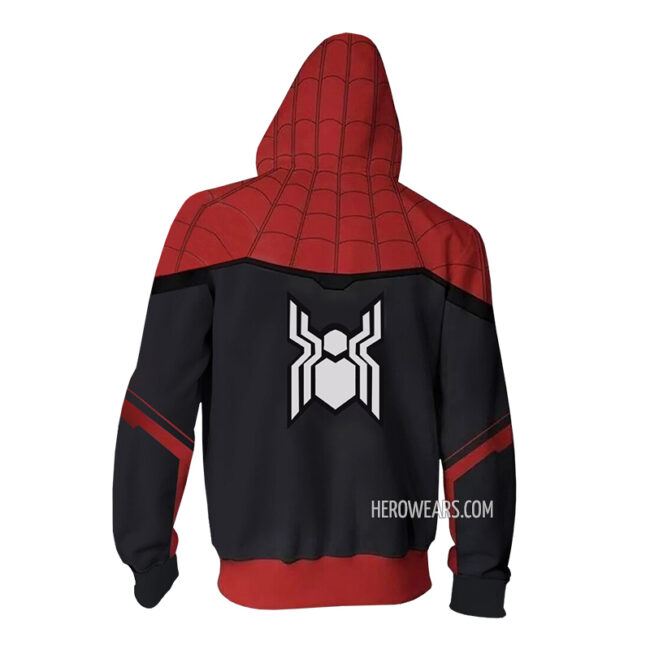 Spider Man Far From Home Zip Up Hoodie