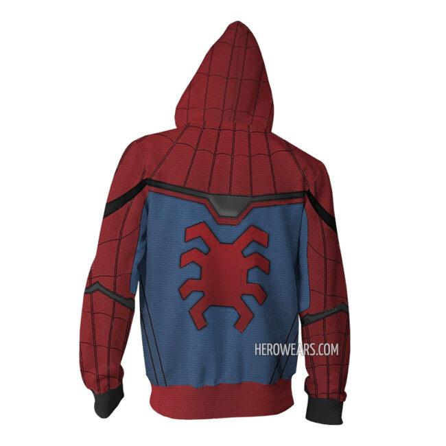 Spider Man Homecoming Zip Up Hoodie