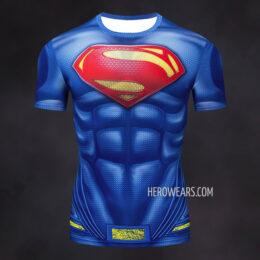 Superman Compression Shirt Rash Guard