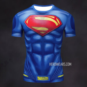 Superman Compression Shirt Rash Guard