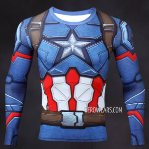 Captain America Compression Shirt Rash Guard