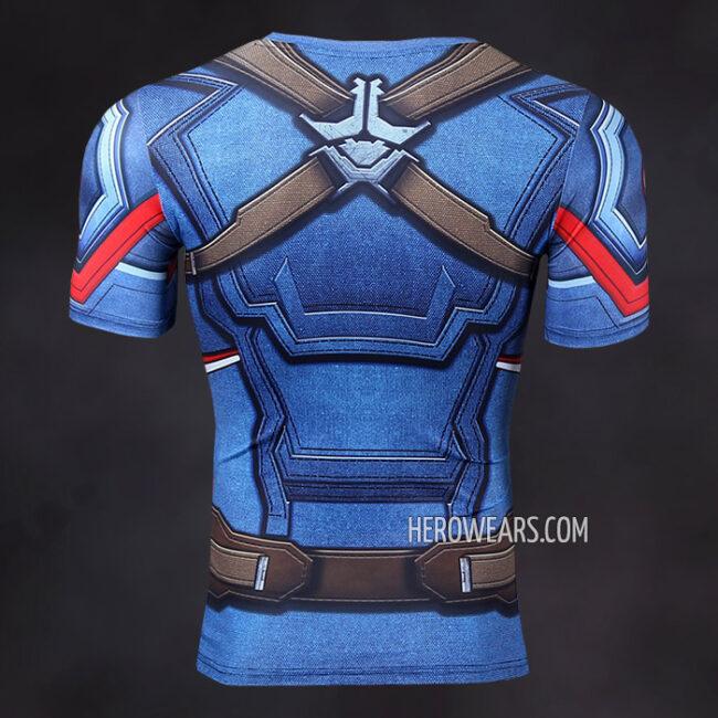 Captain America Compression Shirt Rashguard