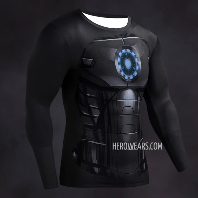 Iron Man Black Compression Shirt Rashguard