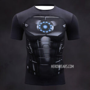 Iron Man Black Compression Shirt Rashguard
