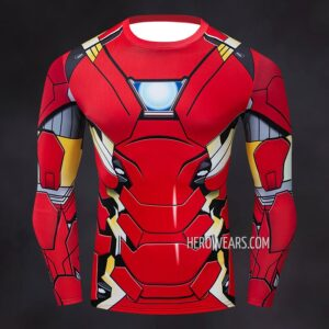 Iron Man Mk46 Compression Shirt Rash Guard