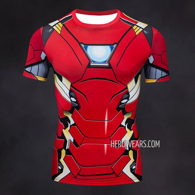 Iron Man Mk46 Compression Shirt Rashguard