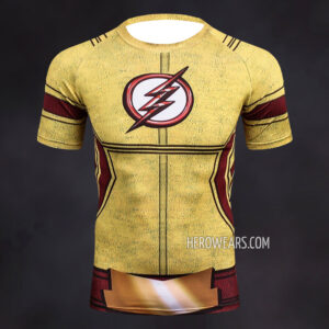 Kid Flash Compression Shirt Rash Guard