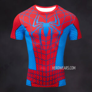 Spider Man Raimi Red and Blue Compression Shirt Rashguard